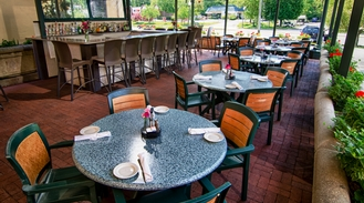 Our beautiful patio is now open!